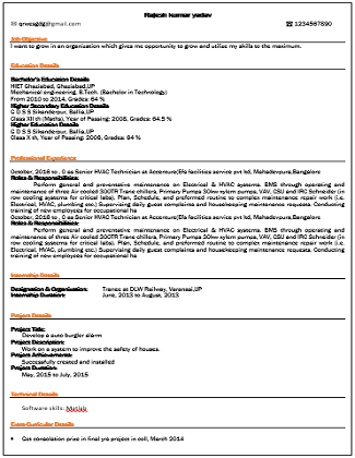 Best Resume (CV) Templates (Formats) | Freshers | Working ...
